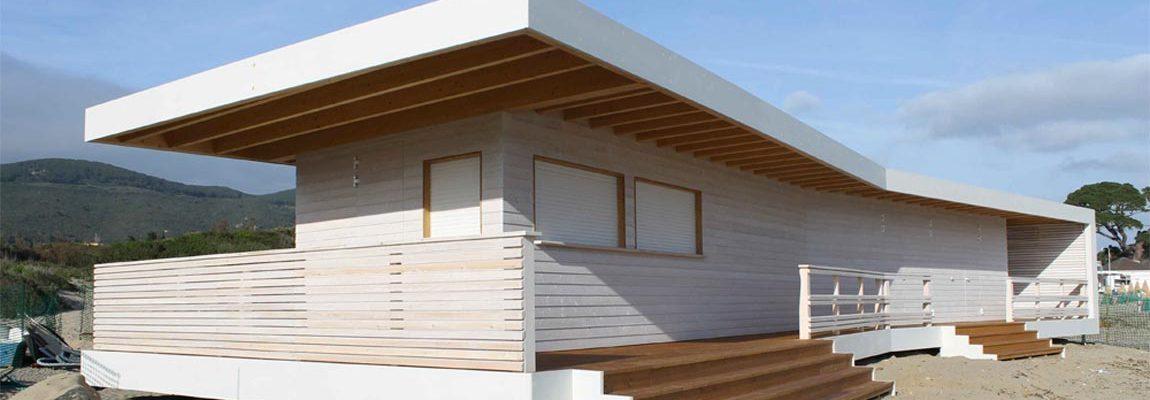 stabilimento balneare in legno
